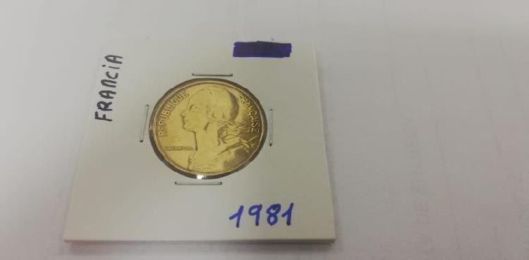 Moneda 20 cent. franco (año 1981)
