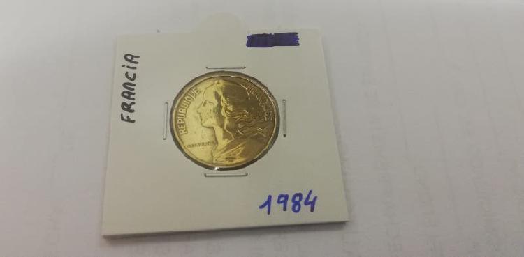 Moneda 20 cent. franco (año 1984)