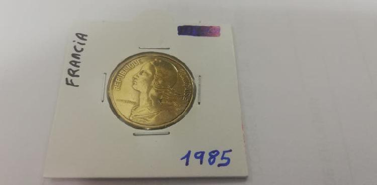 Moneda 20 cent. franco (año 1985)