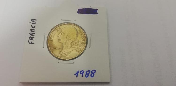 Moneda 20 cent. franco (año 1988)
