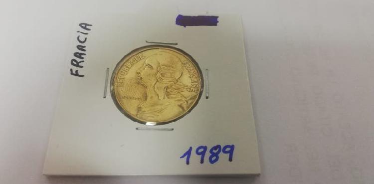 Moneda 20 cent. franco (año 1989)