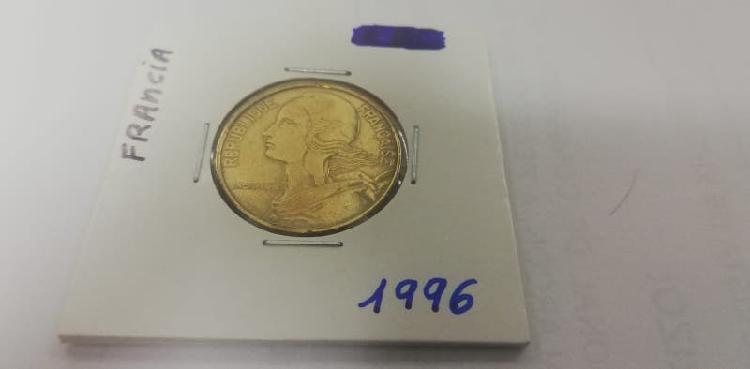 Moneda 20 cent. franco (año 1996)