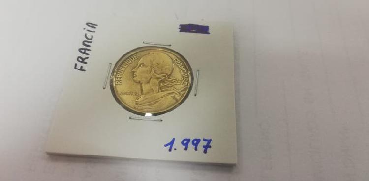 Moneda 20 cent. franco (año 1997)