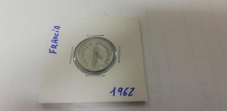 Moneda 5 cent. franco (año 1962)