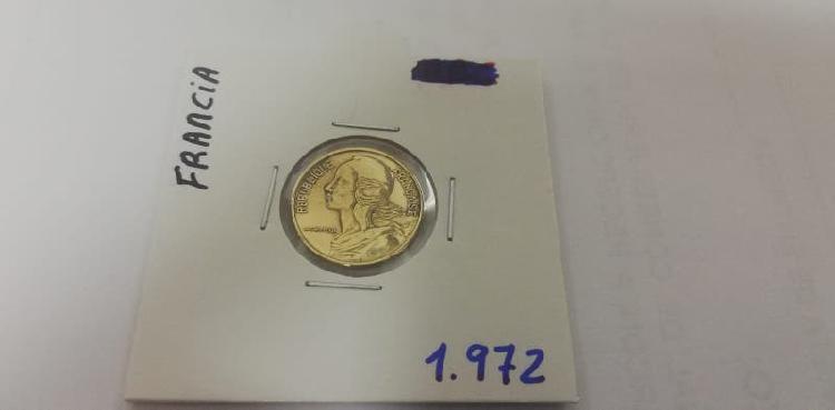 Moneda 5 cent. franco (año 1972)