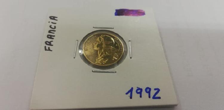 Moneda 5 cent. franco (año 1992)