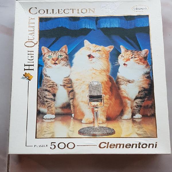 Puzzle totalmente nuevo, 500 piezas de tres gatos