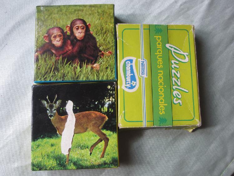 Lote 3 puzzle años 80 nestle