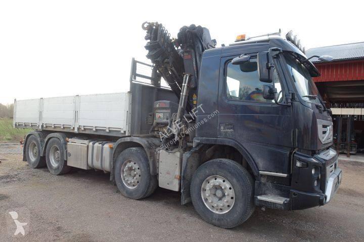 Camión hiab caja abierta teleros volvo fm460 8x4 244 ep