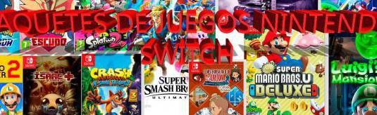 Paquetes de juegos nintendo switch
