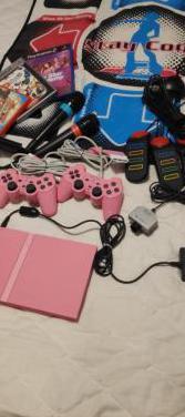 Ps2 slim rosa y accesorios