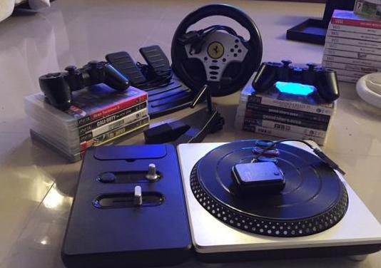 Ps3 con accesorios y muchos juegos