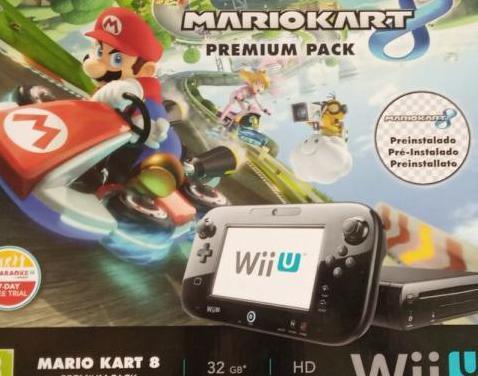 Wii u premium de 32 gb con mario kart 8 pre-instal