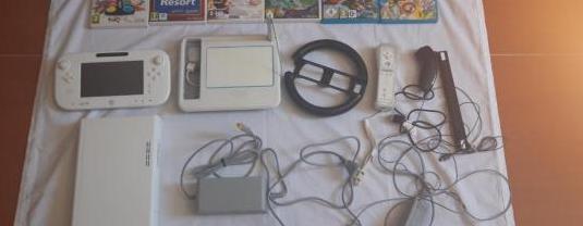 Wii u blanca 8gb nintendo ahorra en el pack