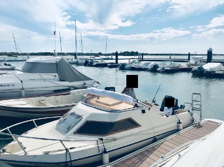 Barco glastrom + yamaha 85cv + remolque