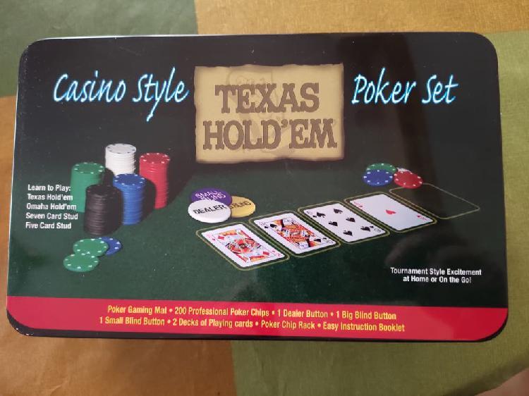 Caja juego completo poker