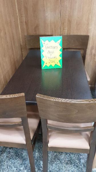 Conjunto mesa y silla madera de aya