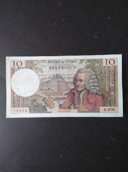 Francia 10 francos de 1973.