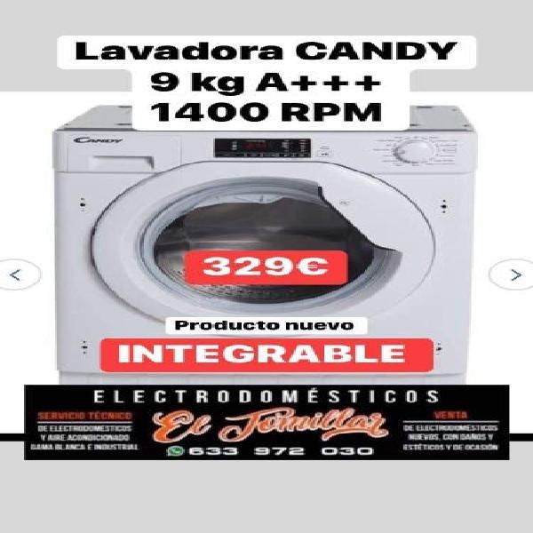 Lavadora candy 9kg integrable