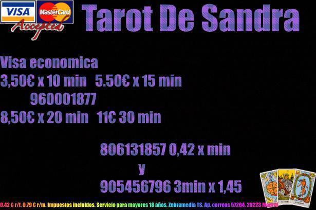 Tarot por visa 8,50 x 20 min 960001877 o 806131857 0,42 x