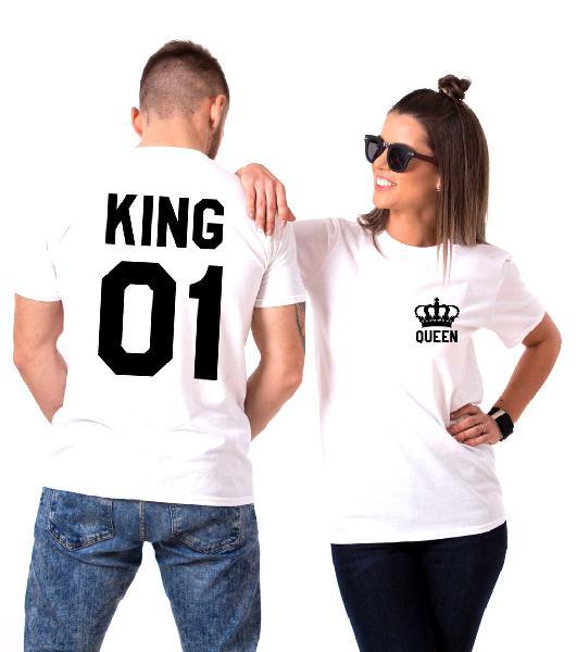 Pack de dos king y queen camiseta personalizada