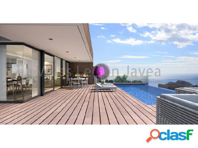 En venta villa de lujo moderno y con espectaculares vistas al mar y peñon de ifach de calpe en cumbre del sol - benitachell