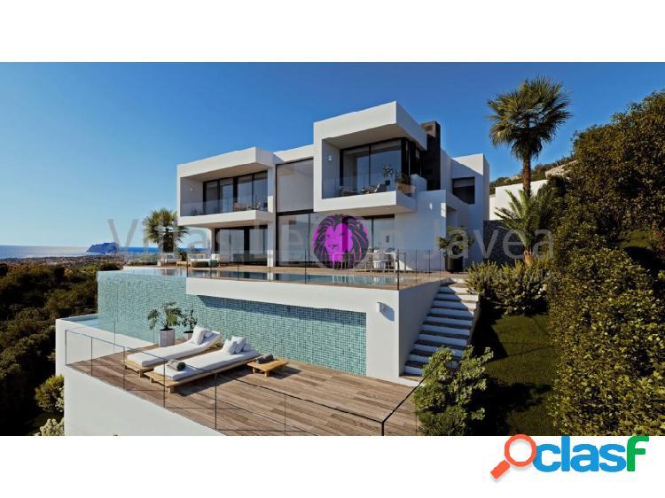 Lujosa y moderna villa en venta con espectacular vista al mar en cumbre del sol - benitachell