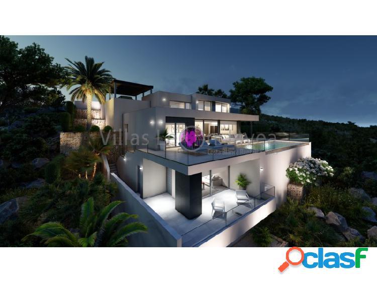 Moderna villa con magnifica vista al mar y peñón de ifach en cumbre del sol - benitachell