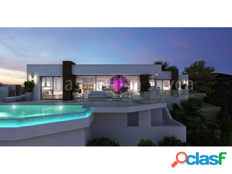 Moderna villa con magnificas vistas al mar cumbre del sol- benitachell