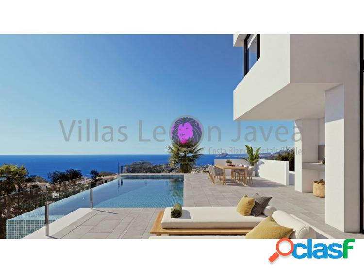 Moderna villa de tres plantas con espectacular vista al mar en cumbre del sol - benitachell