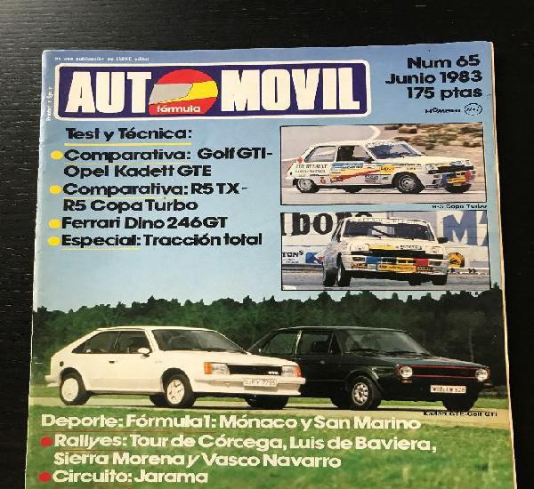 Automovil nº 65 - renault 5 tx copa turbo opel kadett gte