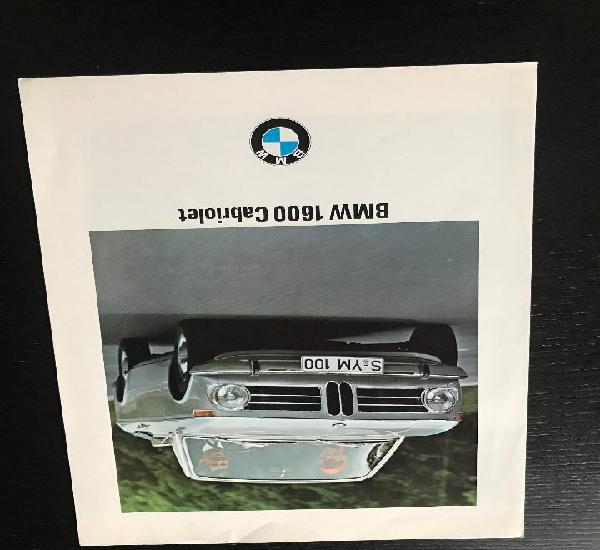Bmw 1600 cabriolet - catalogo publicidad original - año
