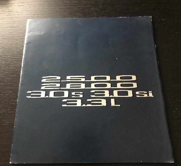 Bmw 2500 / 2800 / 3.0 s / 3.0 si / 3.3 l berlina - catalogo
