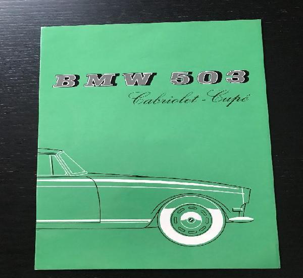 Bmw 503 cabriolet coupe - catalogo publicidad original -