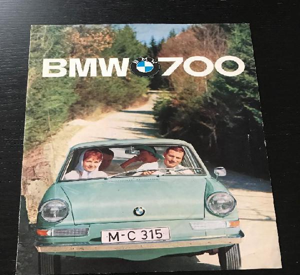 Bmw 700 coupe - catalogo publicidad original - año 1961 -