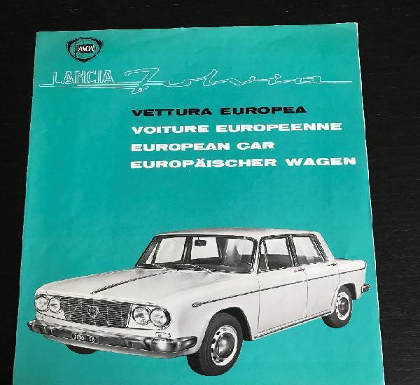 Lancia fulvia - catalogo publicidad original - años 60 -