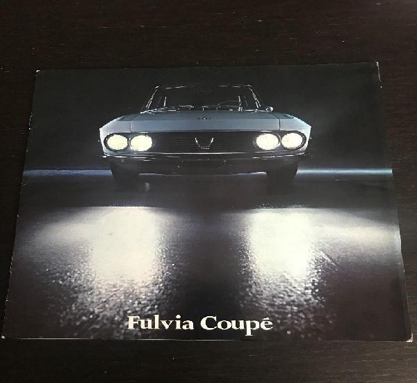 Lancia fulvia coupe 1300 - catalogo publicidad original -