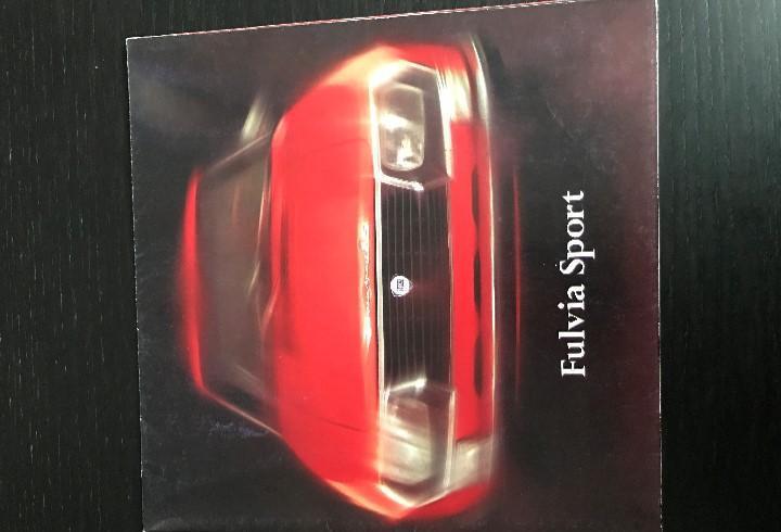 Lancia fulvia sport 1600 s zagato - catalogo publicidad