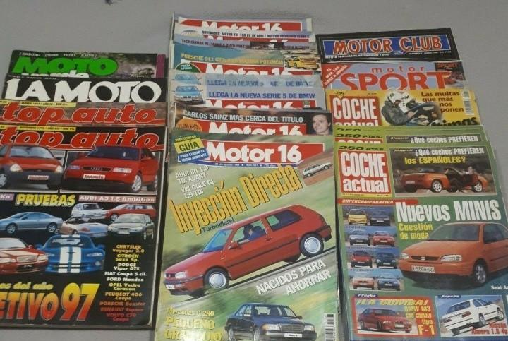 Lote de revistas antiguas de motor. ver descripción.