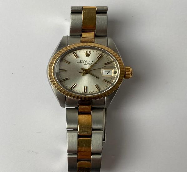 Reloj de muñeca señora rolex en acero y oro 18 k oyster