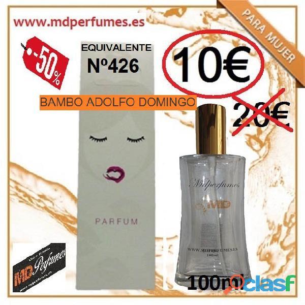 Perfume mujer equivalente n426 bambo adolfo domingo alta gama 10€ 100ml