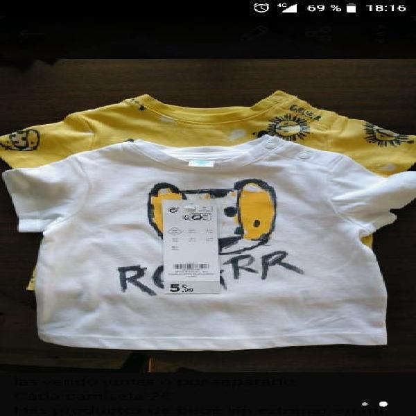 3 meses camisetas algodón bebé niño niña