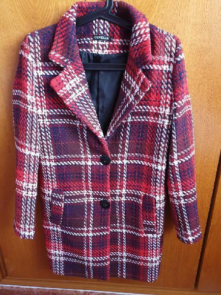 Abrigo rojo mujer, cerezas, talla 38/40, nuevo