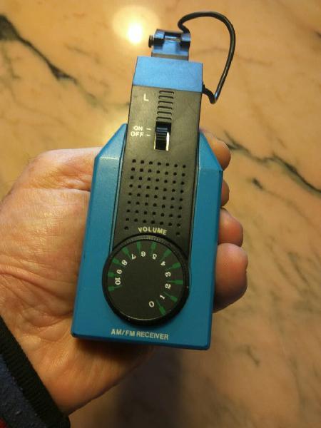 Auriculares con radio am fm vintage