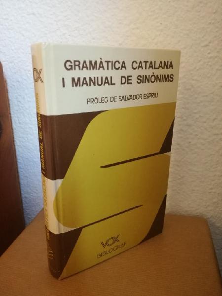Gramática catalana i manual de sinonims
