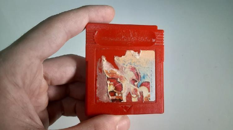 Juego gameboy pokemon rojo
