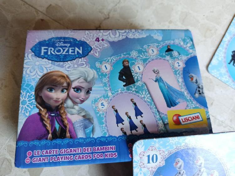 Juego cartas tamaño grande y rígidas frozen