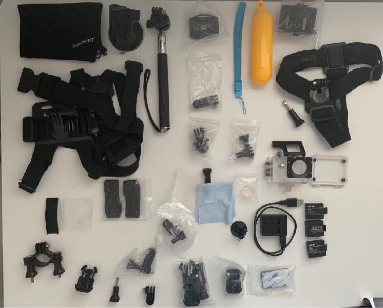 Kit accesorios camara acuática y baterías