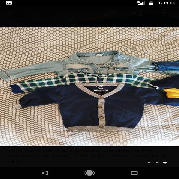 Lote 13 prendas ropa bebé niño de 4 a 9 meses