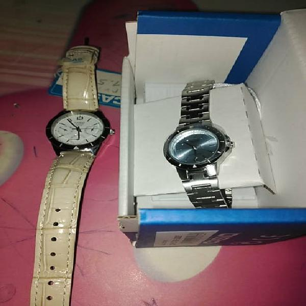 Lote 2 relojes casio. mujer.